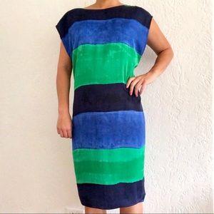 Anne Klein Boat Neck Colorblock Sheath Dress 16